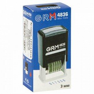 Нумератор 6-разрядный, оттиск 15х3 мм синий, GRM 4836, 124141018