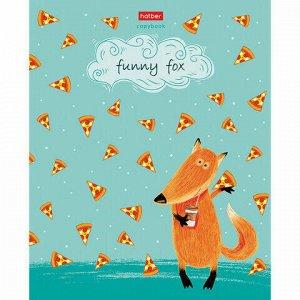 """Тетрадь А5 48 л. HATBER скоба, клетка, матовая ламинация, """"Funny fox"""" (5 видов в спайке), 48Т5лВ1"""