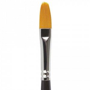 Кисть художественная проф. BRAUBERG ART CLASSIC, синтетика жесткая, овальная, № 8, длинная ручка, 200680