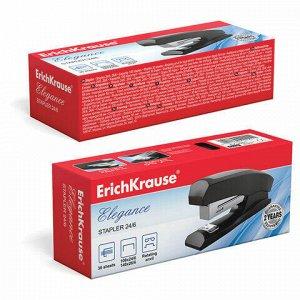 """Степлер №24/6 ERICH KRAUSE """"Elegance"""", до 30 листов, с резиновой накладкой, черный, 2241"""