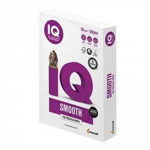 """Бумага IQ SMOOTH, А4, 90 г/м2, 500 л., класс """"А+"""", Австрия, белизна 170% (CIE)"""