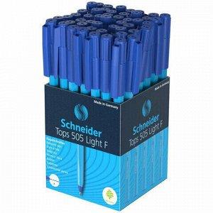 "Ручка шариковая SCHNEIDER (Германия) ""Tops 505 F"" Light, СИНЯЯ, корпус голубой, узел 0,8 мм, 150523"