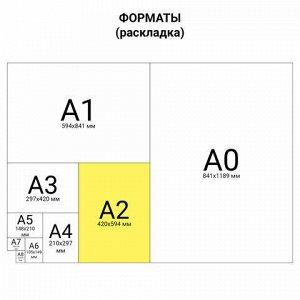 Коврик (мат) для резки ОСТРОВ СОКРОВИЩ, 5-ти слойный, А2 (600х450 мм), двусторонний, толщина 3 мм, 237443