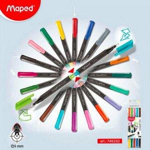 """Набор капиллярных двухсторонних ручек (линеров) MAPED 5 шт., 10 цветов, """"Graph'Pep"""", АССОРТИ, линия письма 0,4 мм, 749250"""
