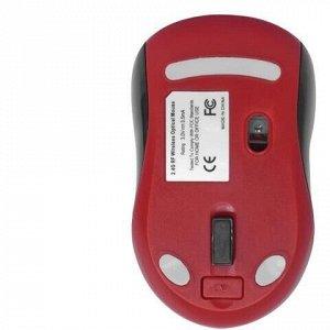 Мышь беспроводная DEFENDER Dacota MS-155, 2 кнопки + 1 колесо-кнопка, лазерная, черно-красная, 52155