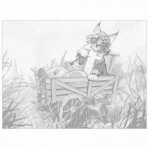 "Холст на картоне с контуром BRAUBERG ART CLASSIC ""КОТ"", 30х40см, грунтованный, хлопок, 191549"