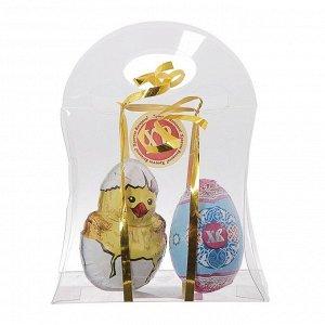 Фигурка шоколадная «Цыплёнок и яйцо», в подарочной сумочке, 50 г