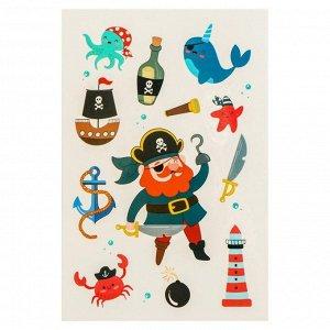 Переводные тату «Пиратская вечеринка», 14х24 см