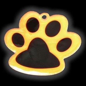Светоотражающий элемент «Лапка», 5,5 ? 4,8 см, цвет оранжевый