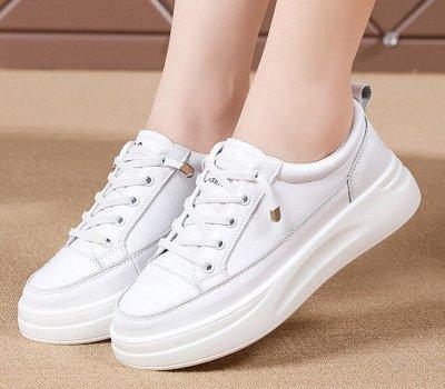 Кожаная обувь по отличной цене! Туфли, кроссовки, сандалии — Кроссовки/кеды женские на платформе — Кожаные