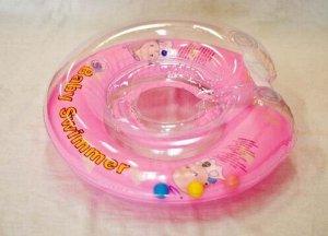Круг розовый (полуцвет + внутри погремушка). арт. BS12А-B 070879