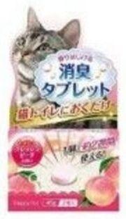 Таблетка функциональный уничтожитель сильных запахов для кошачьего туалета С ароматом персика 2шт*45г