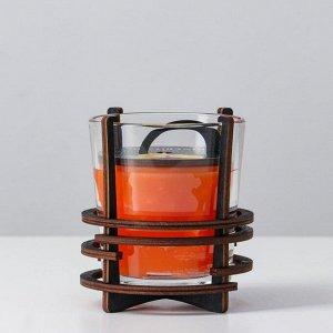 Ароматическая свеча в стекле с декором RIPE ORANGE, 10х9,5 см, 150 гр