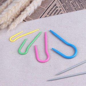 Набор вспомогательных спиц для вязания, d = 0,3/0,4/0,5/0,6 см, 4 шт, цвет МИКС