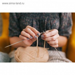 Спицы для вязания, прямые, d = 3 мм, 20 см, 2 шт