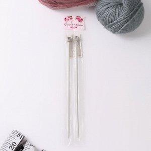 Спицы для вязания, прямые, с тефлоновым покрытием, d = 2,5 мм, 20 см, 2 шт