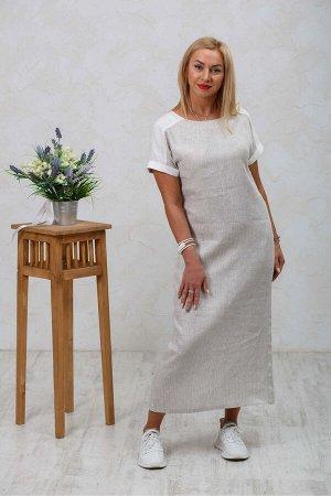 Платье Полоска серая