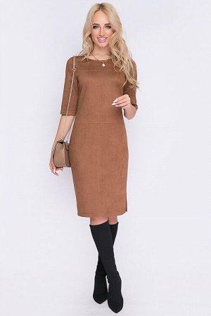 Платье Платье прямого силуэта из искусственной замши. 30% вискоза 65% п/э,5% эластан