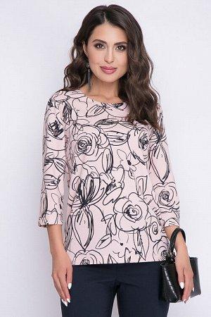 Блузка Блузка прямого силуэта с разрезами в боковых швах из трикотажного полотна. 30% вискоза 65% п/э,5% эластан