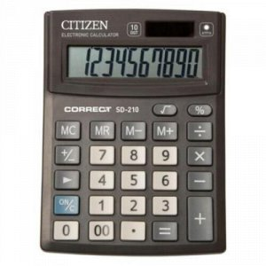 Калькулятор 10 разрядов CITIZEN BusinessLine CMB1001BK 2 питания 138х103х24 мм CITIZEN {Китай}