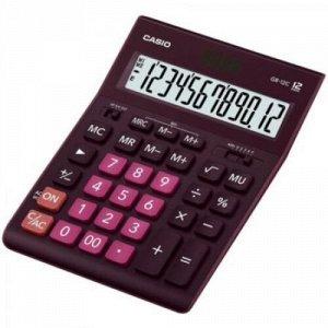 Калькулятор 12 разрядов CASIO GR-12C- WR бордо 2 питания 209х155х35 мм CASIO {Китай}