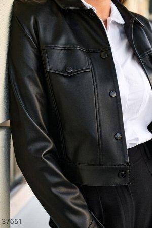 Кожаная куртка рубашечного кроя