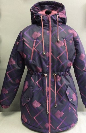 Куртка Ткань верха: мембрана Подкладка: флис,рукава-подкладочная ткань Утеплитель: синтепон 120 г/м2 Отделка: нагрудные карманы на замочках,внизу боковые карманы с клапаном на кнопке,кулиска,хвостик С