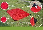 Коврик для пляжа и пикника с карманами Beach Mat 1 местный 70x200 см. в чехле Красный