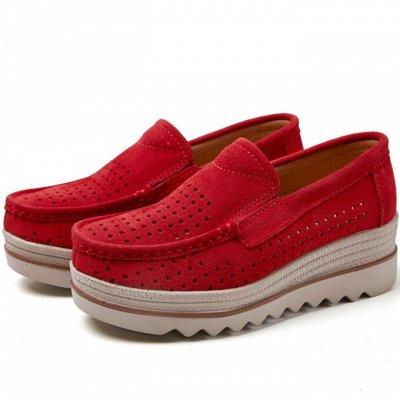 Кожаная обувь по отличной цене! Туфли, кроссовки, сандалии — Женские лоферы на платформе — Мокасины