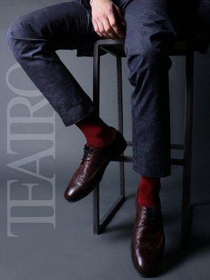 Teatro / Носки мужские хлопковые / носки высокие классические однотонные / носки из эко хлопка Classic men