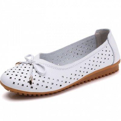Кожаная обувь по отличной цене! Туфли, кроссовки, сандалии — Женские балетки — Кожаные
