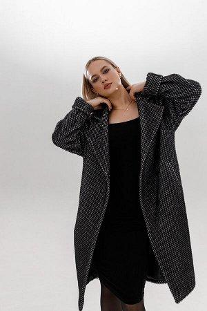 """Пальто под пояс цвет """"Dark grey"""""""