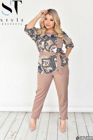 Костюм 67672 (блузка+брюки)