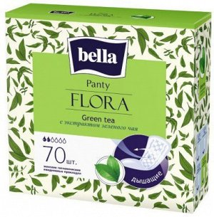 Прокладки ежедневные Bella Flora Green tea, 70 шт./уп. (с экстрактом зеленого чая)