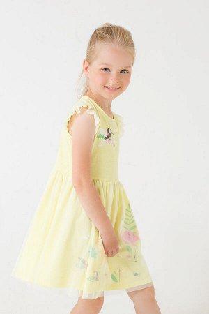 Платье(Весна-Лето)+girls (бледно-желтый к289)