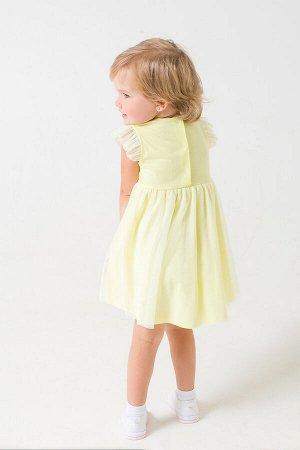Платье(Весна-Лето)+girls (бледно-желтый к287)