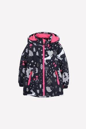 Куртка демисезонная утепленная для девочки Crockid ВК 32110/н/1 УЗГ
