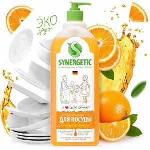Synergetic Антибак. гель для мытья посуды и фруктов 1л Апельсин