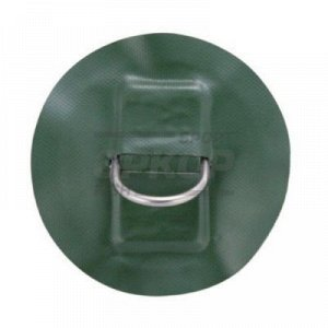 Кольцо D-образное малое с накладкой зелёный