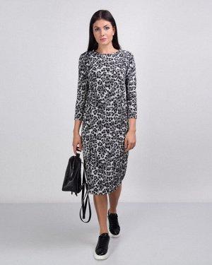Платье жен. (006564)серо-черный