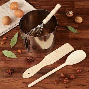 """Подарочный набор """"Для выпечки"""", 4 предмета: форма, лопатка, ложка, венчик"""