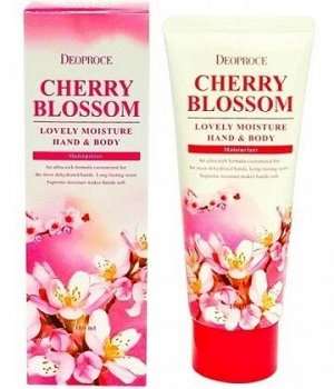 Deoproce Крем для рук и тела питательный Черешня Cherry Blossom Lovery Moisture Hand&Body , 100мл