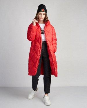 Пальто утепленное жен. (171654) рубин