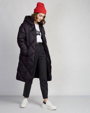 Пальто утепленное жен. (999999) чёрный