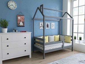 Кровать Домик Классика 160*80 серый П