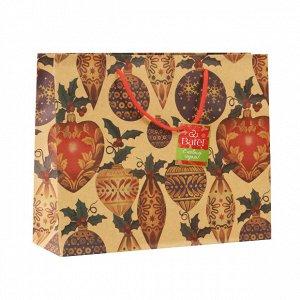 1 шт.* Крафт-пакет новогодний «Игрушки на елку»