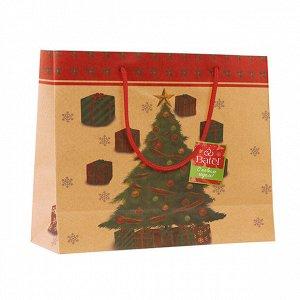 1 шт.* Крафт-пакет новогодний «Блестит огнями яркими»