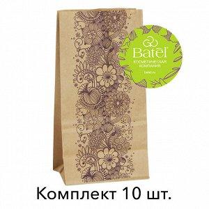 10 шт.* Крафт-пакет «Цветущий сад» с фирменным стикером «В цвете Батэль», 10 штук