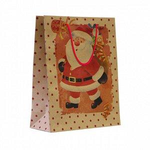 1 шт.* Крафт-пакет новогодний «Почта Деда Мороза»