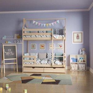 Кровать Домик Двухъярусный 180*90 без покраски
